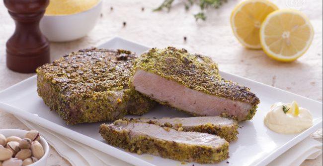 Braciole al limone con panatura croccante al pistacchio