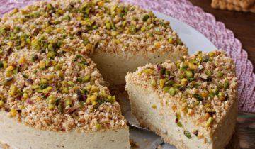 Sbriciolata al pistacchio senza cottura