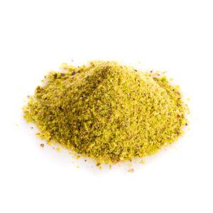 Farina non pelata di pistacchio origine Mediterraneo